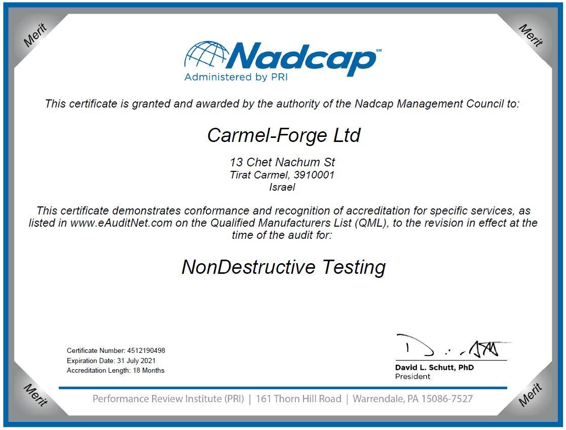 Certificate NDT 31.7.2021