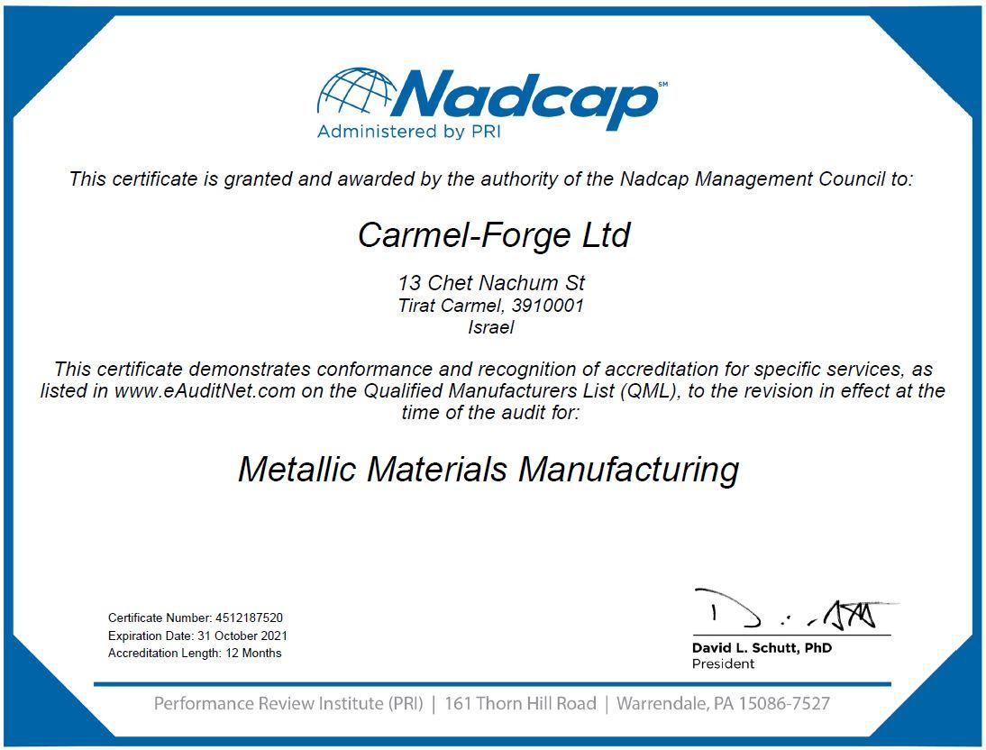 Certificate MMM 31.10.2021